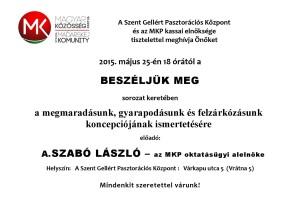 Meghívó - Beszéljük meg A.Szabó László Kassán 2015.5.25-page-001
