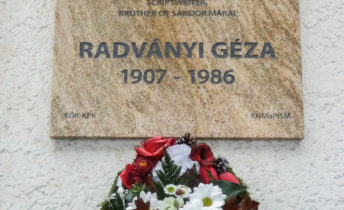 Emléktáblát kapott szülővárosában Radványi Géza